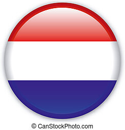 Button Netherlands - Button with map from Netherlands