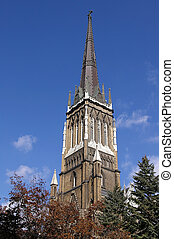Church Spire Steeple - A gothic architecture church spier...