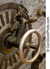 old valve - Close-up of old electric device with valve and...
