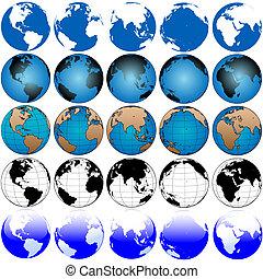 Global Earth Map Set 5x5