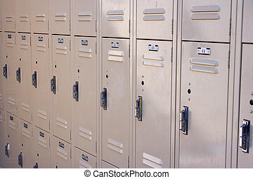 Wall of Lockers - A wall of lockers.