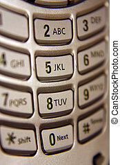Cell Phone Keypad - A close up of a cell phone keypad.