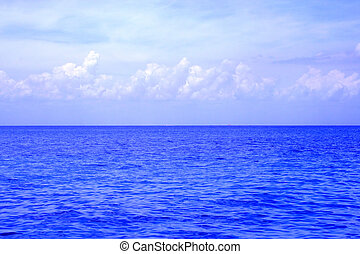 Cloudy Ocean View - An ocean view from a cruise ship. The...