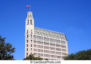 San Antonio Texas Skyline - A building in the San Antonio...