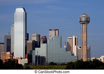 Dallas Texas Skyline - A section of buildings in the Dallas...