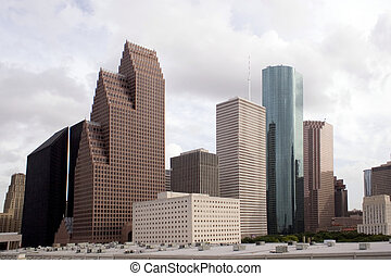 Houston Texas Skyline - A section of buildings in the...