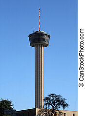 San Antonio, Texas Skyline - A tower in the San Antonio,...