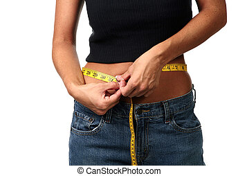 How Many Inches is My Waistline Today - Dieting Woman...