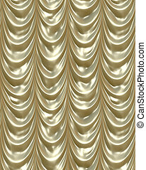 gold curtains - luxurious golden curtains draping down like...