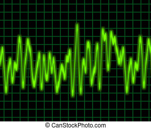 audio wave - image of a glowing audio or sine wave