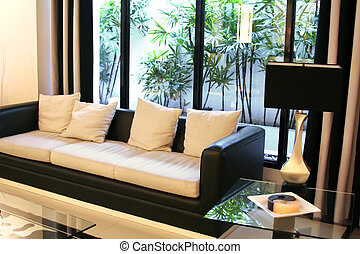 Modern elegant room - Living room waiting room with elegant...