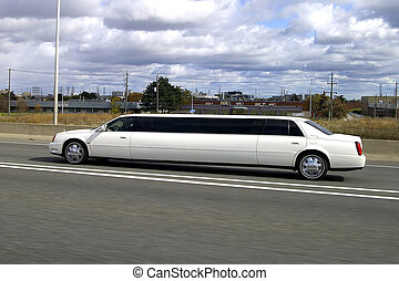 Superstretch Limo - A white superstrecth cadillac limousine...