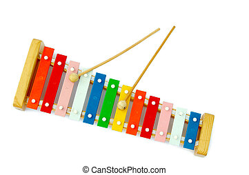 Xylophone - Rainbow xylophone on a light background