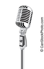 Retro Microphone (vector) - Retro Microphone (jpeg...
