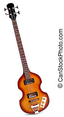 Electric Bass Guitar - Viola Style Sixties Bass Guitar...