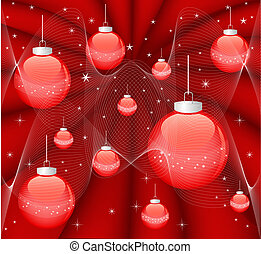 Magic background - Magic red Christmas background