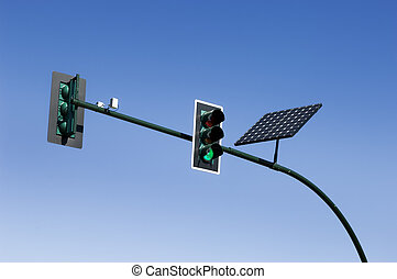Traffic light - Solar powered traffic light