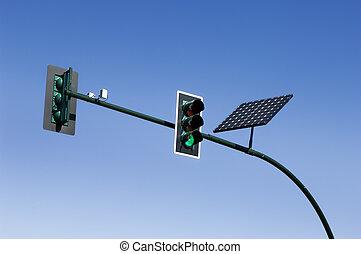 Traffic light - Solar powered traffic light