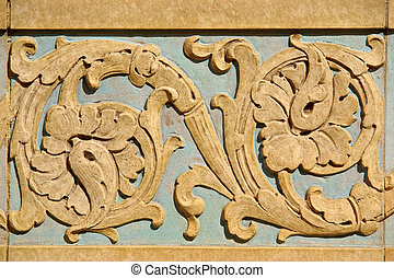 Architectural details - stucco molding for background or...