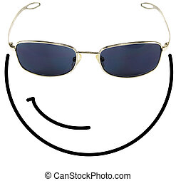 Cool smiley face - Funny cool smiley face composed of a...