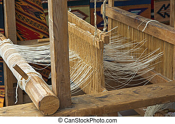 wooden loom - Native American wooden loom
