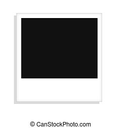 Blank Polaroid picture - Graphic Illustration of a blank...