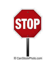 Graphic Stop Sign - An isolated graphic stop sign with...