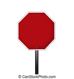 Isolated Blank Graphic Stop Sign - An isolated blank graphic...