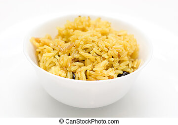 plate with rice