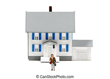 Real Estate - Photo of a Miniature and MIniature Woman -...