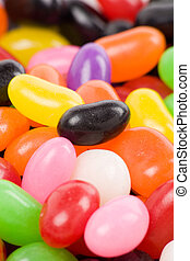 jellybeans - Colorful jellybeans close up shot