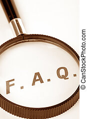 Frequently Asked Questions, concept of FAQ