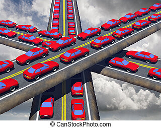 Traffic - Trafic congestion of the roads