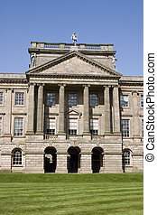 Stately home - The imposing entrance to a stately home