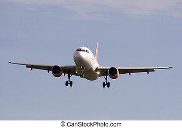 Jet plane - A jet plane landing