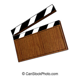 clapperboard - 3d, clapperboard, cut, action, act, shoot,...
