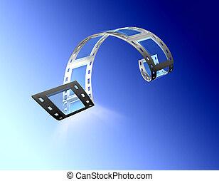 filmstrip v3 - 3d, filmstrip, film, strip transparent with...