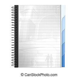 spiral writing pad - 3D, a4, spiral writing pad, writing...