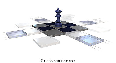 chess strategy - 3d, chess, strategy, game, queen,...