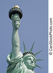 Liberty statue - Shot of the liberty statue. New york city