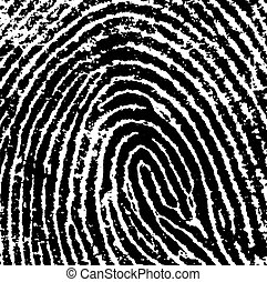 FingerPrint Crop 8 - Black and White Vector Fingerprint Crop...