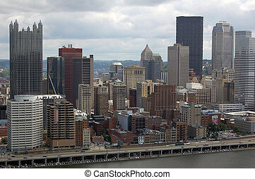 Pittsburgh - A cityscape view of Pittsburgh from Mount...