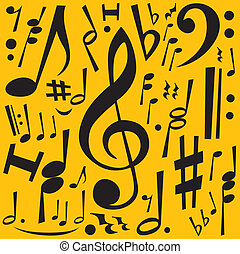 Music Notes jpeg rasterized from vector