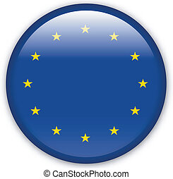 Button Europe - Button with map from Europe