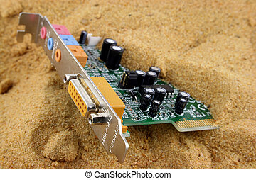 Silicon Valley 4 - Games port half buried in the sand
