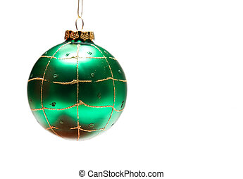 Christmas ornament - An isolated shot of a green christmas...