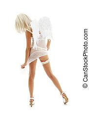branca, anjo, alto, calcanhares, #4