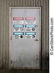 Wellcome - Industrial door signs