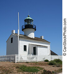 Point Loma Lighthouse on the Cabrillo National Park in San...