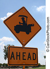 Upclose golfcart crossing - Upclose to the golfcart crossing...
